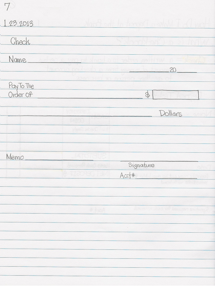 Ja Biztown Job Descriptions Junior Practical & Creative Writing Lessons : How  To Write A Check