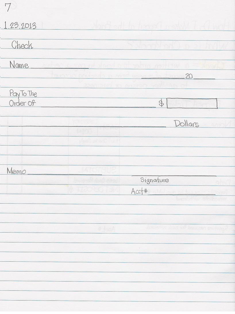 Ja Biztown Job Descriptions Junior Practical & Creative Writing Lessons :  How To Write A Check